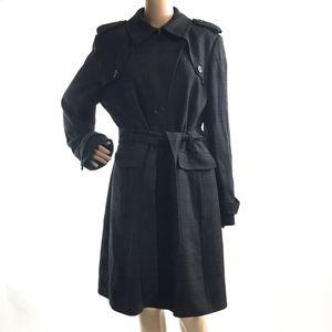 Banana Republic 3-Buttons Wool Trench Coat